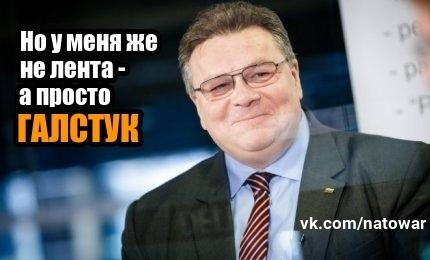 Про галстуки ничего не говорили Литва, НАТО, Мид, Галстук, Георгиевская ленточка, Победа, Министр