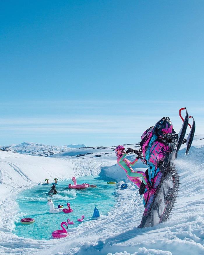 Видео - Лютая тётька на ГИДРОЦИКЛЕ и снегоходе гоняет в горах! Экстрим, Горы, Гидроцикл, Снегоход, Девушки, Красивая девушка, Мото, Спорт, Видео, Длиннопост