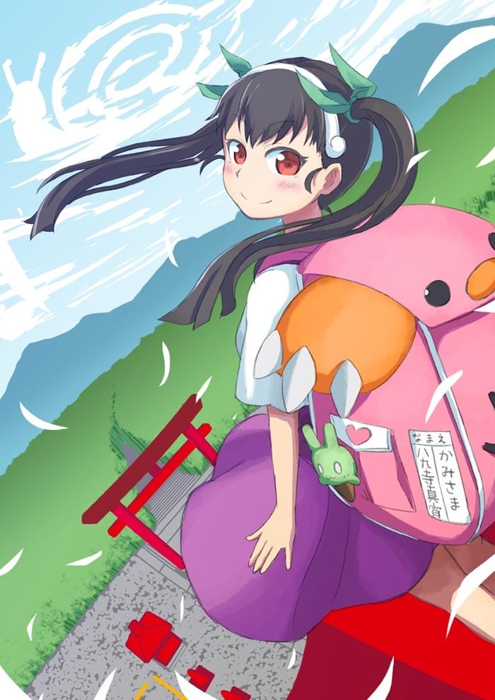Маленькая Богиня Аниме, Anime Art, Monogatari series, Hachikuji Mayoi