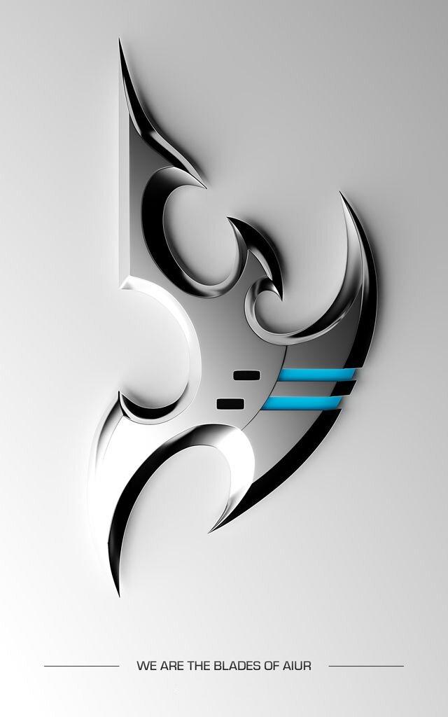 Логотипы рас StarCraft Starcraft, Логотип, 3D моделирование, Протоссы, Терраны, Зерги, Длиннопост