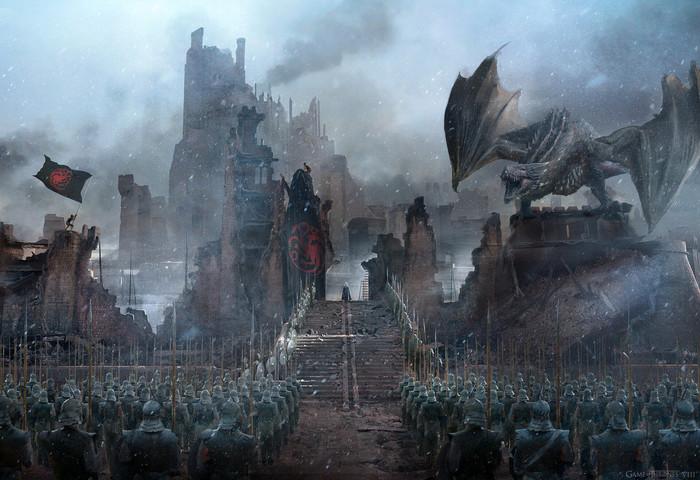 Арты к последней серии Игра престолов, Дейенерис Таргариен, Джон Сноу, Дрогон, Спойлер, Длиннопост