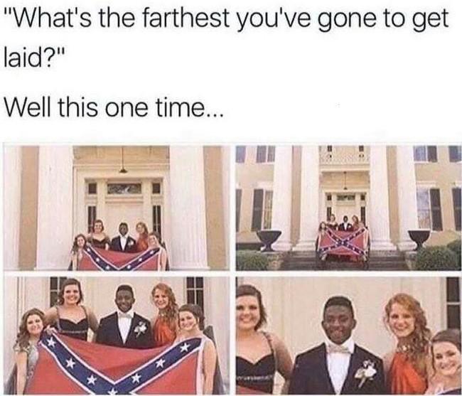 Бывает и так... Негр, Девушки, Флаг конфедерации