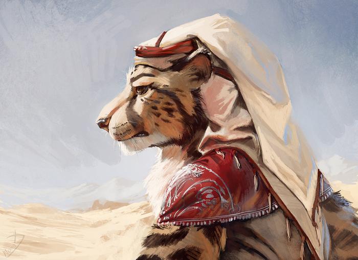 Cheetah Portrait Фурри, Furry Art, Furry Feline, Furry Cheetah, Портрет, Пустыня, Nomax