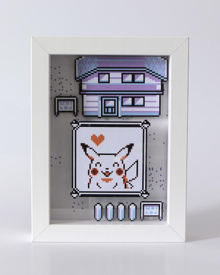 Диорама по игре Pokemon Yellow Диорама, Игры, Своими руками, Покемоны, Пикачу, Олдскул, Длиннопост