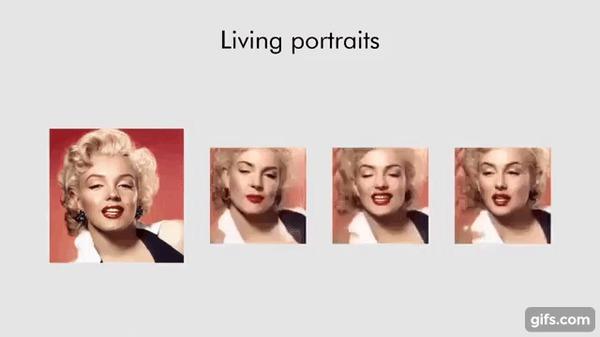 ИИ научился создавать видео с одного кадра. Старые картины теперь можно сделать живыми Samsung, Машинное обучение, Искусственный интеллект, Видео, Оживление, Habr, Pochtoycom, Сколтех, Гифка, Длиннопост