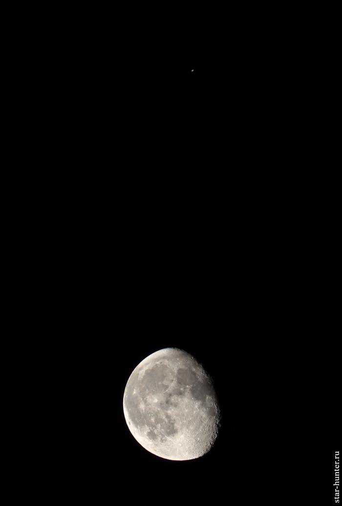 Сатурн и Луна. 23 мая 2019 года, 01:54. Луна, Сатурн, Астрофото, Астрономия, Космос, Starhunter, Анападвор