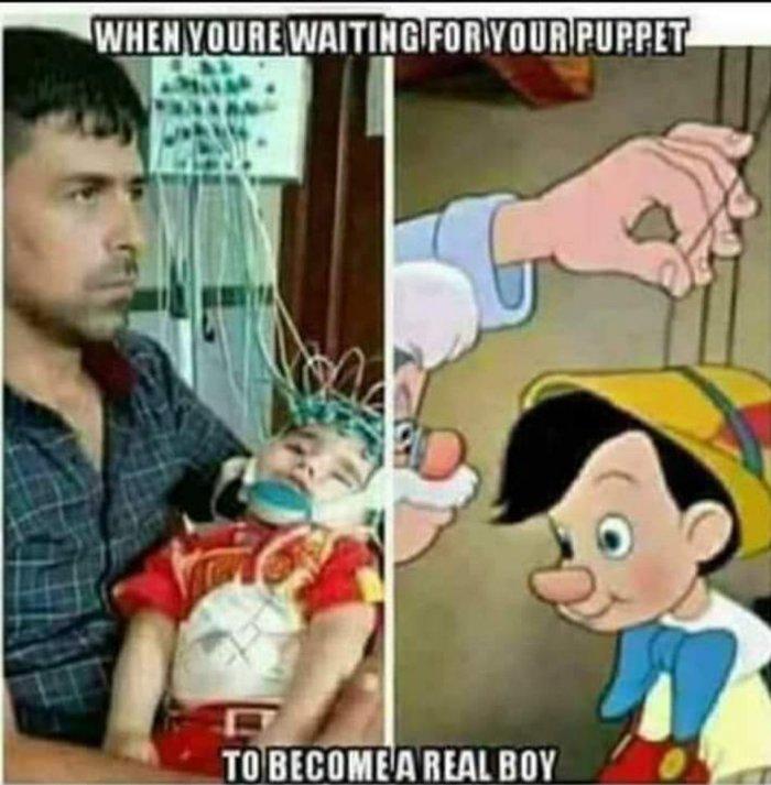 Пиноккио Черный юмор, Моралфаги мимо