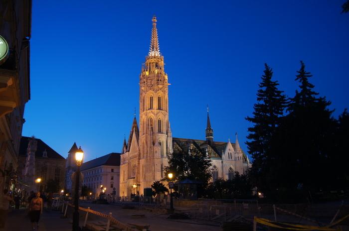 Вечер в Буде. Венгрия, Будапешт, Вечер, Длиннопост