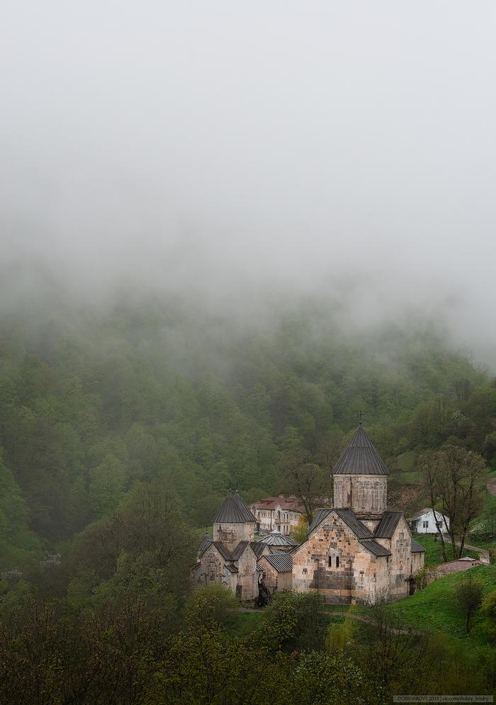 Агарцин Пейзаж, Фотография, Nikon, Армения, Туман, Монастырь, Церковь