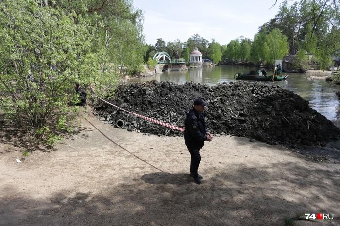 В Челябинске в парке Гагарина начали очистку карьера впервые за 18 лет Челябинск, Уборка, Мусор, Карьер, Утка, Видео, Длиннопост