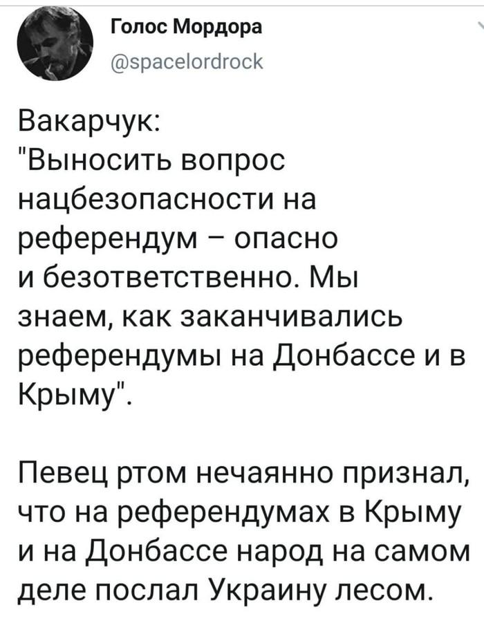 """Стоп. А где же про """"референдум под дулами автоматов""""? Политика, Украина, Референдум, Крым, Донбасс, Вакарчук, Скриншот"""