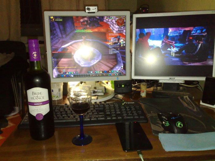 Очередной холостяцкий вечер Одиночество, Грусть, Фотография, World of Warcraft, Бардак, Холостяк