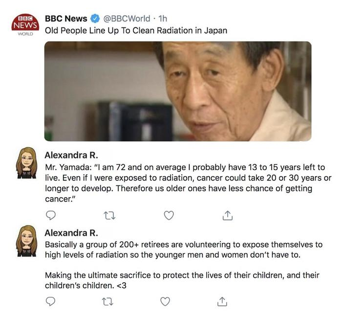 Японские старики. Они такие. Япония, Копипаста, Старики, Радиация, Twitter, Скриншот