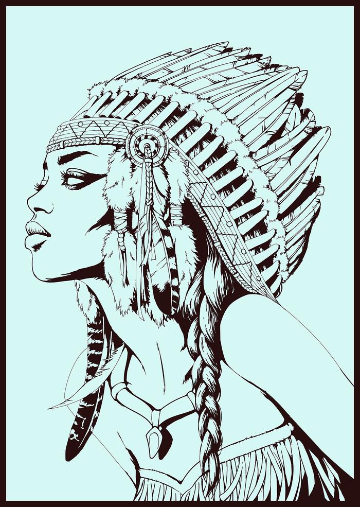 Native american. Арт, Девушки, Индейцы, Картинки, Длиннопост