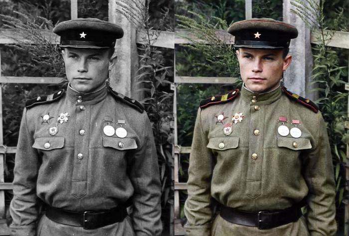 Моя колоризация Колоризация, Великая Отечественная война, Танкист
