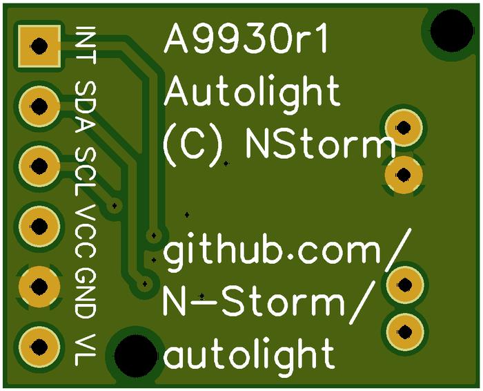 """""""Умное"""" освещение на базе сенсора освещенности и расстояния APDS-9930. Часть 3, плата. Avr, Микроконтроллеры, Умный дом, Подсветка, Самоделки, Автоматизация, Печатная плата"""