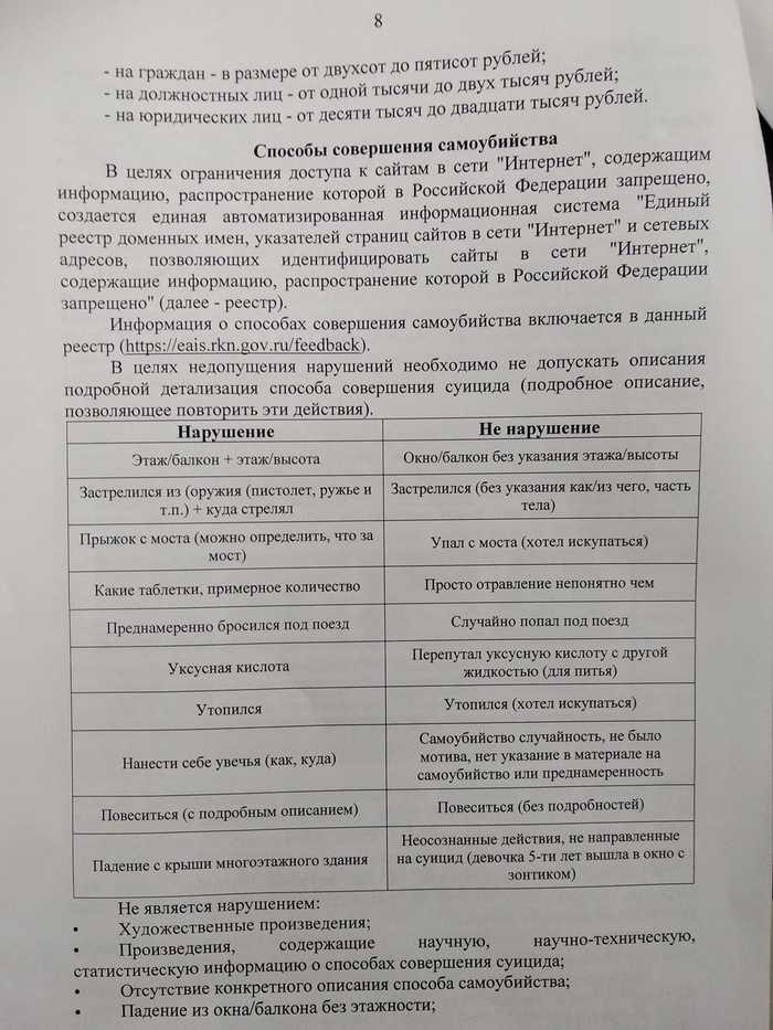 Роскомнадзор требует от журналистов подменять факты при освещении самоубийств, в противном случае угрожая блокировкой Роскомнадзор, Цензура, Негатив