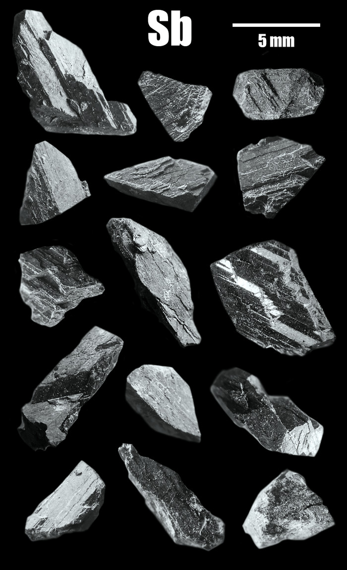Кристаллы сурьмы Сурьма, Химия, Лига химиков, Кристаллы, Элементы