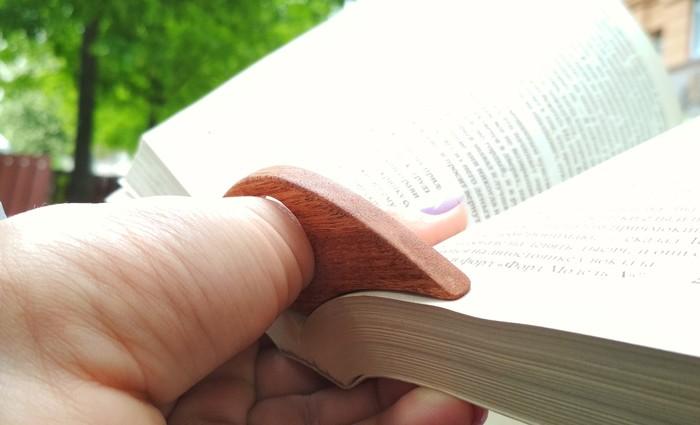 Держатель книжных страниц из Сапеле Держатель, Дерево, Длиннопост, Ручная работа, Книги