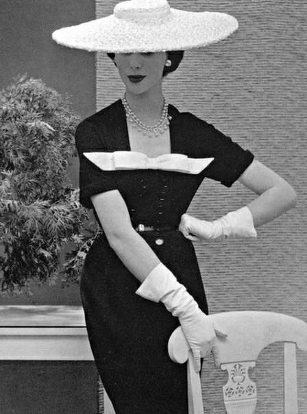 Nina Ricci, 1950-е Мода, Винтаж, 50-е, Красивые платья, Длиннопост
