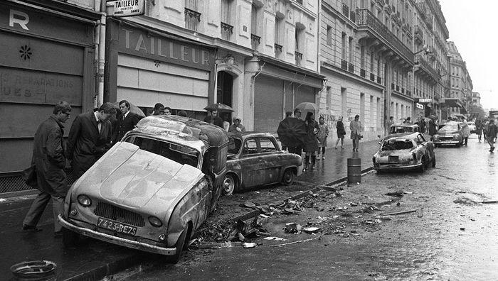 Париж в мае 1968 года Париж, Манифестация, Забастовка, Длиннопост, История, Черно-Белое фото