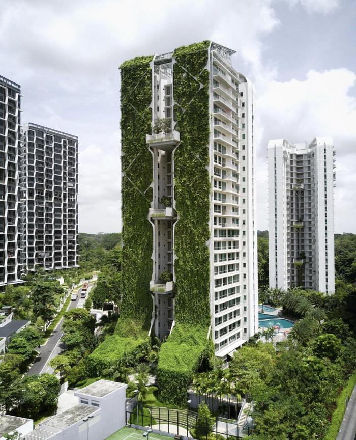 Крупнейший в мире вертикальный сад -Tree House condominium