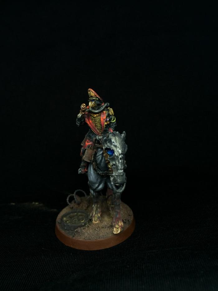 Комиссар Моделизм, Warhammer 40k, Astra Militarum, Имперская гвардия, Комиссар, Длиннопост