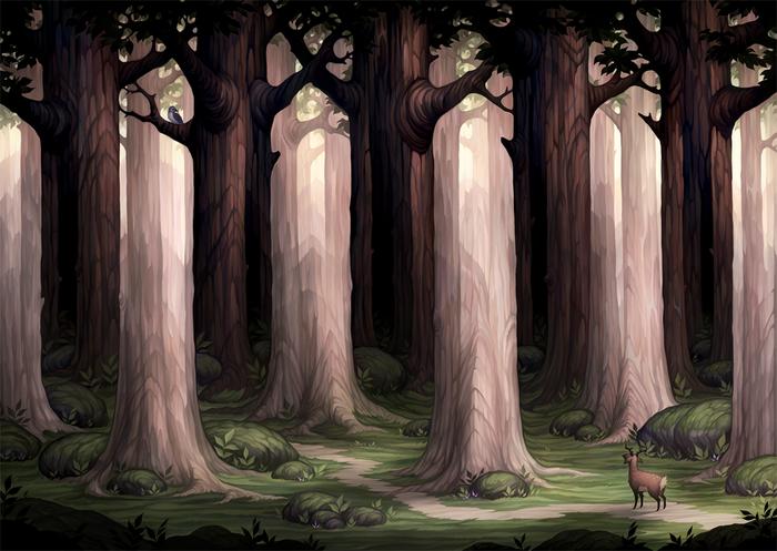 Oddwood Арт, Лес, Дерево, Иллюзия, Оптические иллюзии, Оптические иллюзия, Moa Wallin