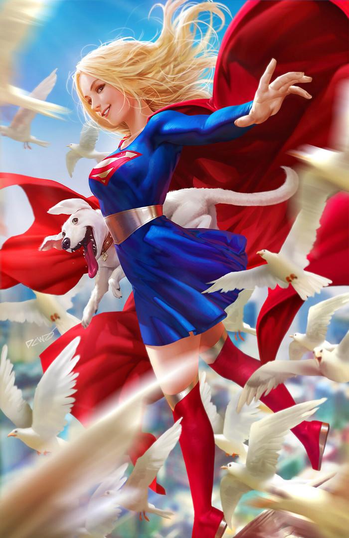 Supergirl Арт, Рисунок, Супергерл, DC, Dcwj, Derrick Chew