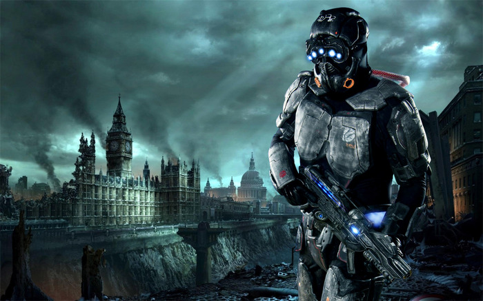 Hellgate: London - обои на рабочий стол. Hellgate: London, Темза, Обои на рабочий стол, Биг-Бен, Длиннопост