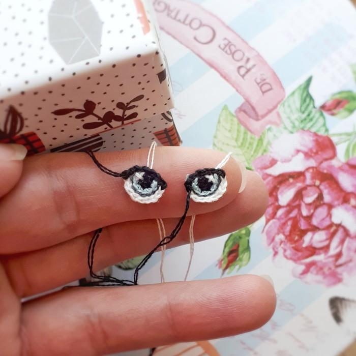 Глазки для куклы)) Рукоделие без процесса, Вязание крючком, Куклы ручной работы