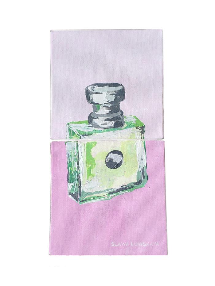 """""""Версаче """" Акрил .Холст 10*20 Арт, Современное искусство, Искусство, Versace, Картина, Картинки, Цвет, Длиннопост"""