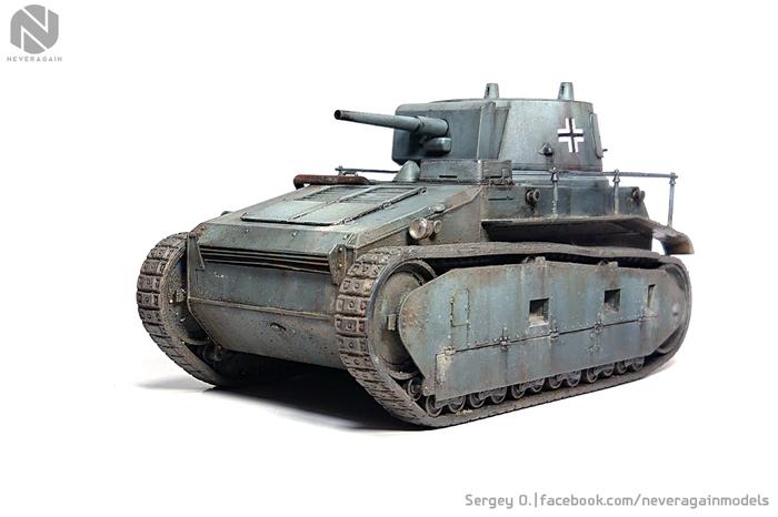 Немирный немецкий тракторRheinmetall Leichttraktor (1:35, ICM) Стендовый моделизм, Масштаб 1:35, Масштабная модель, Танки, Длиннопост