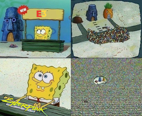 Мемы к Е3 Игры, E3, Cyberpunk 2077, GTA, Мемы, Длиннопост