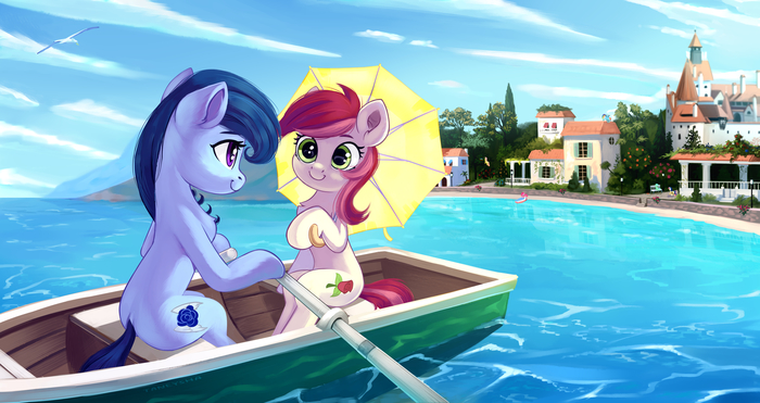 Friends In The Boat My Little Pony, Original Character, Roseluck, MLP Lesbian, Taneysha