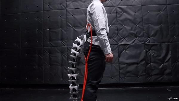 Человеческий хвост Японцы, Хвост, Технологии, Гифка, Видео