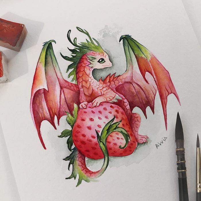 Клубничный дракон
