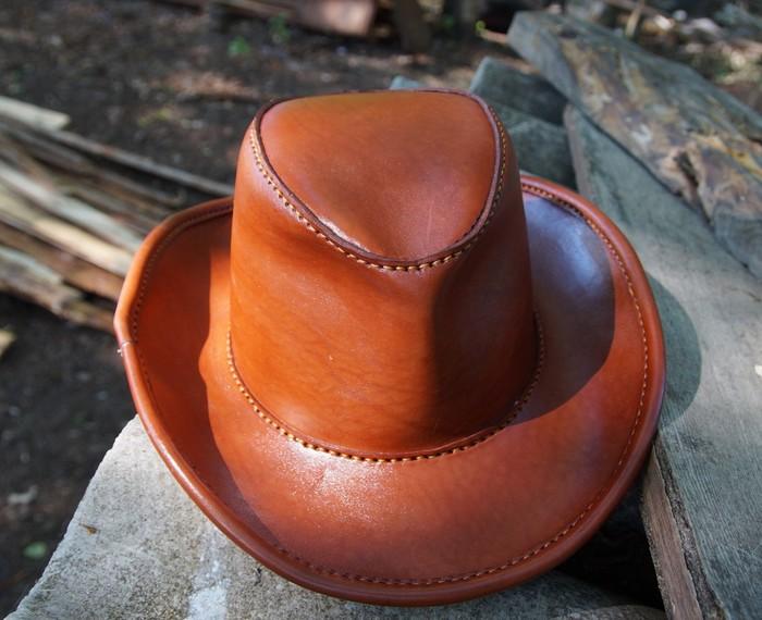 Шляпа из натуральной кожи. Своими руками, Шляпа, Рукоделие без процесса, Кожа натуральная, Ковбойская шляпа, Длиннопост