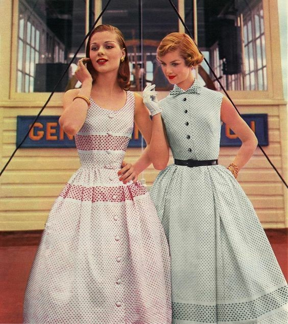 Платья 1950 Красивые платья, Винтаж, 50-е, Мода, Длиннопост