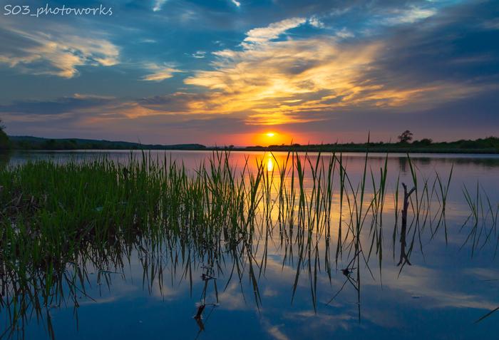 Закат на озере Фотография, Закат, Пейзаж, Дальний Восток, Приморский край, Уссурийск