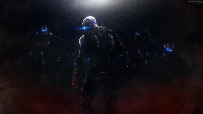 """""""Вознесение"""" - Mass Effect Trilogy 4K Mass Effect, Шепард, Жнецы, Одурманивание, Обои на рабочий стол, Хаск, Банши, Налетчик"""
