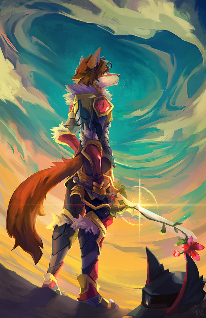 Birth by sleep Фурри, Furry Art, Furry Fox, Kingdom Hearts, Original Character, Cercat