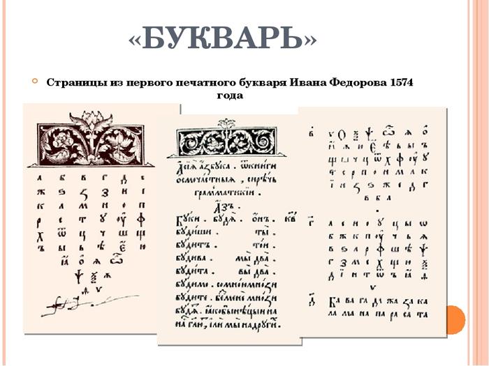 Когда появился первый букварь Первый букварь, Письменность, Славянская письменность, Иван Федоров, Букварь Федорова, Длиннопост