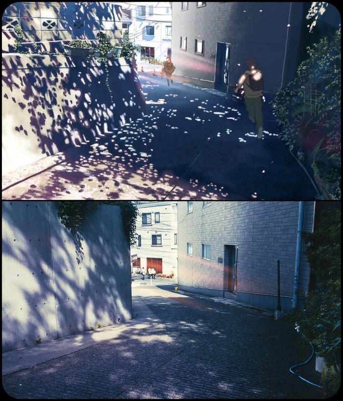 """Макото Синкай """"Пять сантиметров в секунду"""" в реальном Токио Макото Синкай, Аниме, 5 сантиметров в секунду, Токио, Япония, Длиннопост"""
