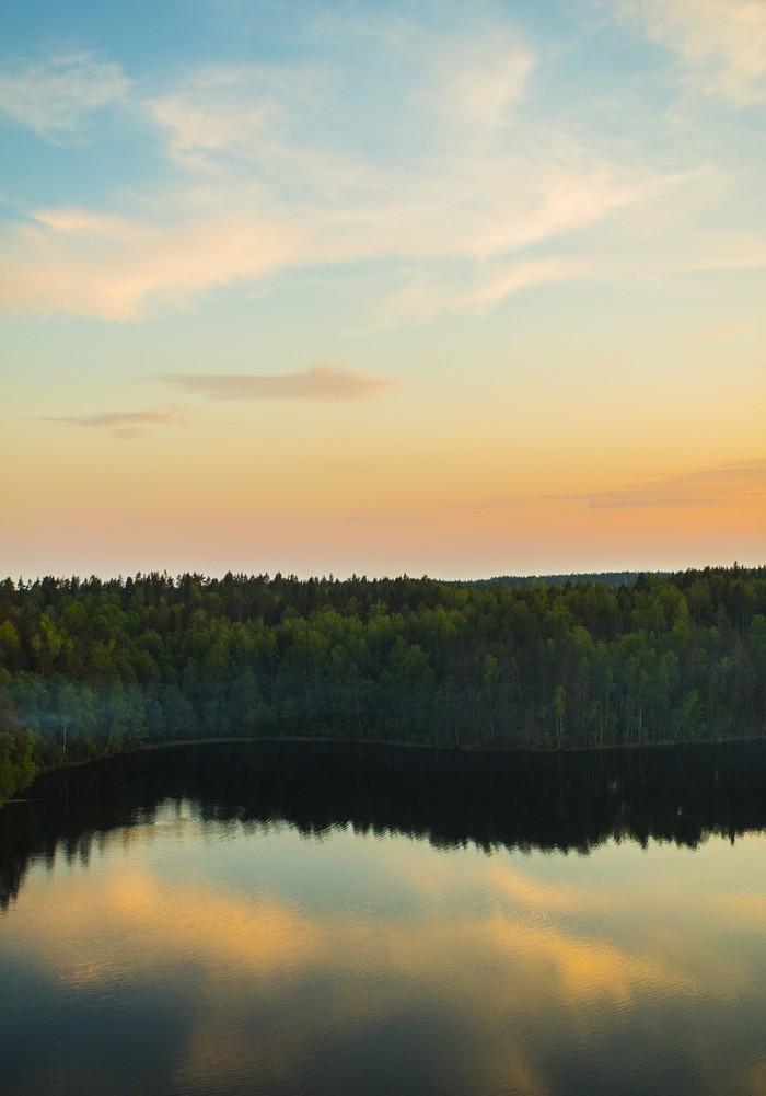 Рассвет на озере Ястребиное Озеро, Природа, Рассвет
