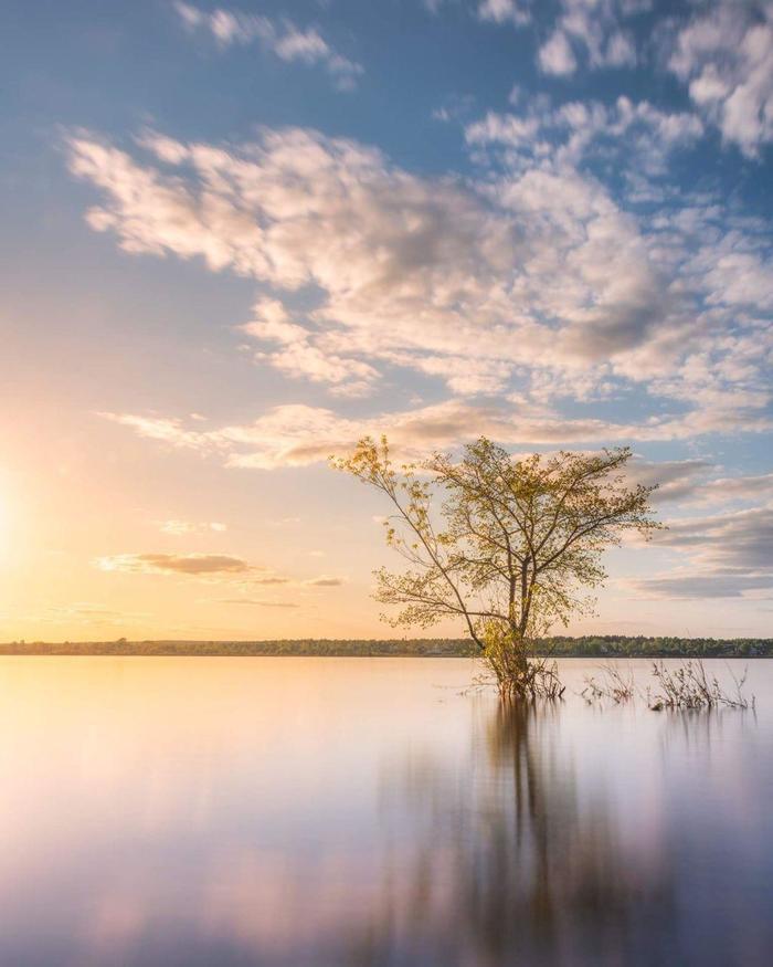 Паводок на Каме Пейзаж, Фотография, Пермь, Река, Красота, Красота природы, Закат, Урал