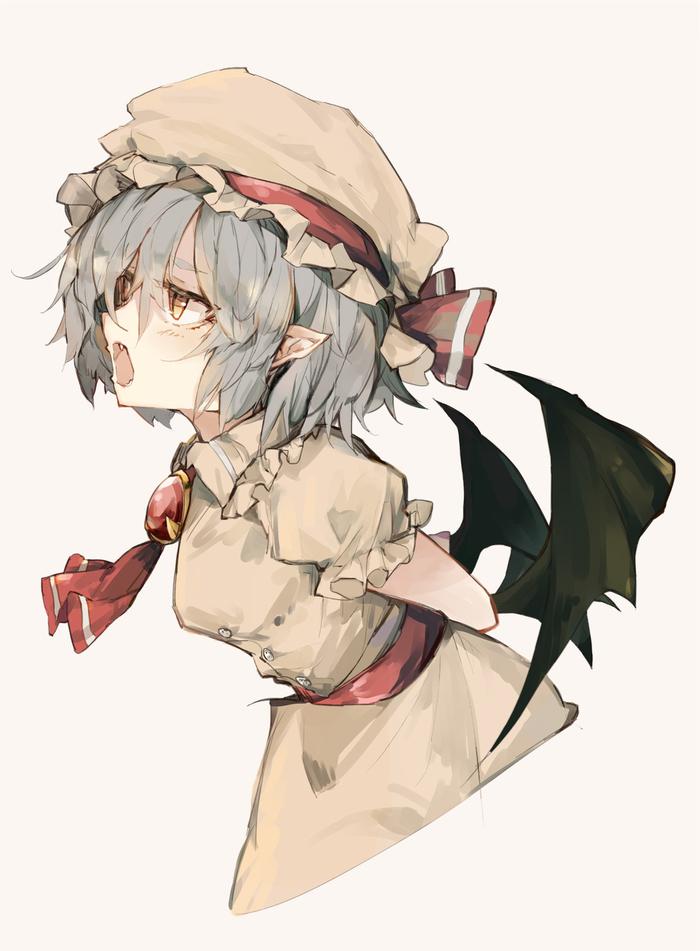 Remilia Scarlet Anime Art, Аниме, Remilia Scarlet, Touhou, Zairen