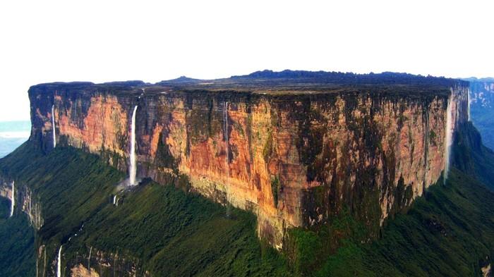 Вопрос про гору Рорайма в Венесуэле и её водопады Горы, Гора рорайма, Природа, Дикая природа, Водопад, Длиннопост, Видео