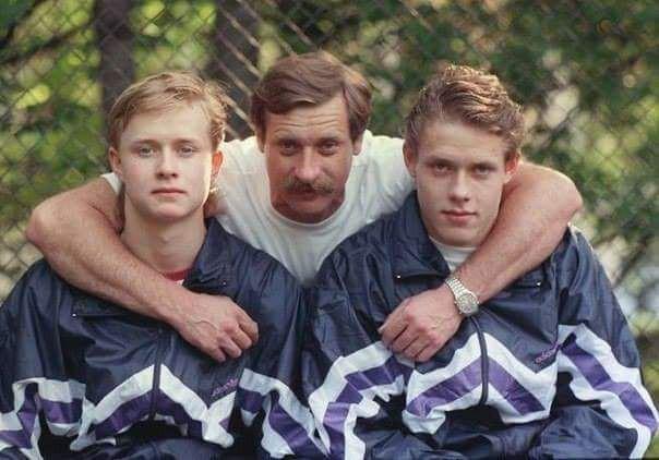 Москва 1991 год. Владимир Буре с сыновьями Валерием и Павлом