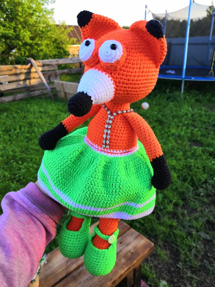 Лисичка-модница Вязание, Игрушки, Вяжу, Рукоделие, Крючок, Вязаные игрушки, Длиннопост